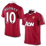 10-11 Man Utd Home Jersey + Rooney 10-S