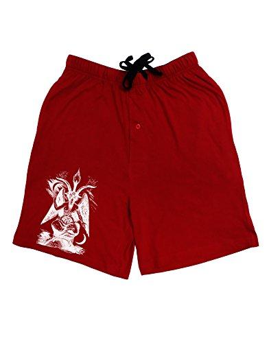 [TooLoud Baphomet Illustration Adult Lounge Shorts - Red- Large] (Red Devil Outfit)