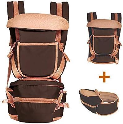 Amazon.com : Luxury 9 in 1 hipseat Ergonomic Baby Carrier 360 Mochila portabebe Baby Sling Backpack Kangaroo Children Baby wrap, Coffee Color, ...