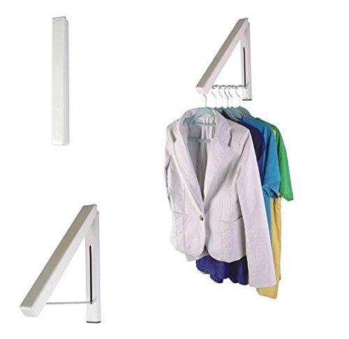 Wall Mountable Hidden Type Clothes Hanger Drying Rack Stand