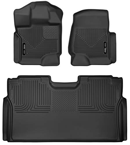 Seat Floor Liners - Husky Liners X-act Contour Front & 2nd Seat Floor Liners Fits 2015-19 Ford F-150 SuperCrew