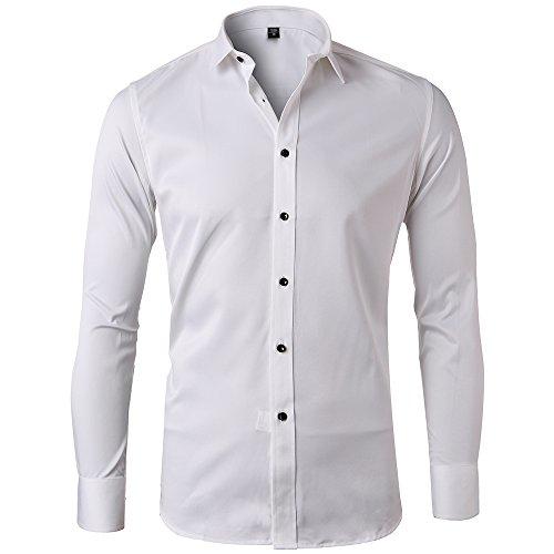 White casual button down shirt south park t shirts for Van heusen pilot shirts slim fit
