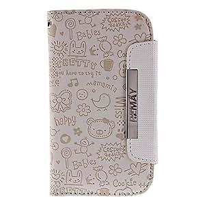 Beige Cartoon Pattern PU Leather Full Body Case for Samsung Galaxy S3 I9300 00725467