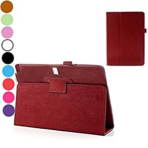 LZX Lichee Texture Folio Stand Auto Sleep/Wake UP Leather Case for Samsung Galaxy Note 10.1 2014 Edition(Assorted Colors) , Brown