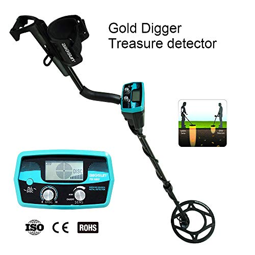 allsun Pro Underwater Metal Detector Underground Waterproof Gold Finder Treasure Hunter 2 Modes Outdoor Gold Digger with Sensitive Search Coil,LCD Display