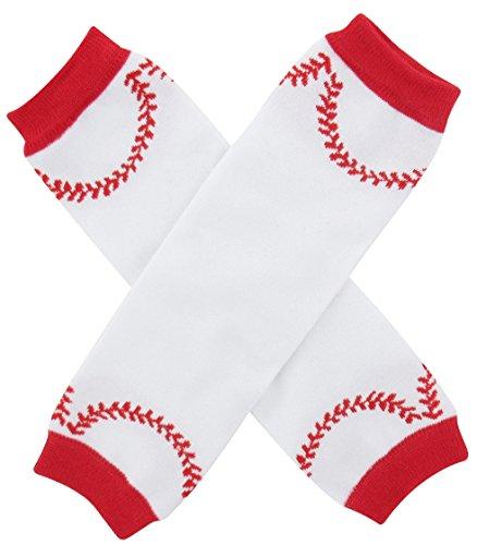 Baby Girl Baseball - Mombebe Baby Baseball Leg Warmers (Baseball)