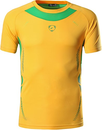 jeansian Men's Sport Quick Dry Fit Short Sleeves Men T-Shirts Tee Shirt Tshirt Tops Golf Tennis Running LSL111