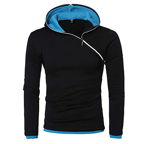 True Color Replacement Tube - Sunhusing Men's Slim Paneled Zip Hooded Long Sleeve T-Shirt Autumn Winter Leisure Solid Color Hoodie Tops