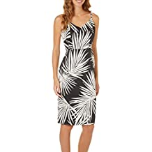 London Times Womens Palm Print Sheath Dress