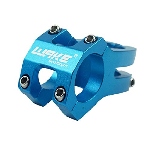Wake 31.8 Mountain Bike Stem Aluminum Alloy Short Bicycle Stem Light Weight Handlebar Stems for Mountain Bikes Downhill Blue