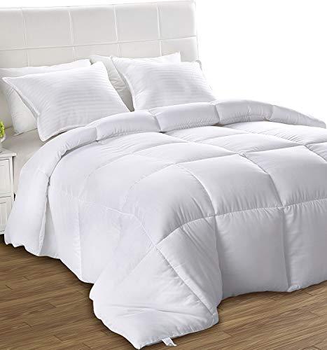 Utopia Bedding All Season Comforter - Ultra Soft Down Alternative Comforter - Plush Siliconized...