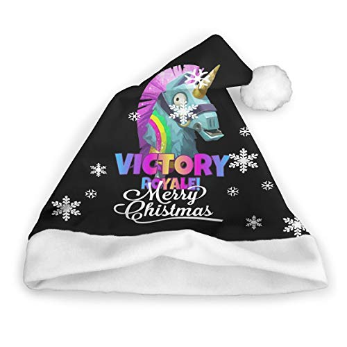 Fortnite Llama Unicorn Horse Winter Merry Christmas Hat Party Supplies Christmas Hat Unisex Santa Hat Adult Kids