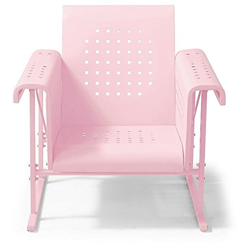 Vintage Metal Glider - Vintage Collection Outdoor Metal Glider Patio Chair Arm Chair Pink