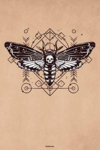 Dark Christmas Halloween Horror Nights (Notebook: Deaths Head Hawkmoth Journal Geometric Occult Moth Composition Book Dark Horror)