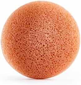 Honest Beauty Gentle Konjac Sponge with Pink Kaolin Clay | Paraben Free, Dermatologist Tested, Cruelty Free | 1 Sponge