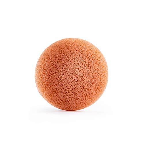 Honest Beauty Gentle Konjac Sponge with Pink Kaolin Clay | Paraben Free, Dermatologist Tested, Cruelty Free | 1 Sponge