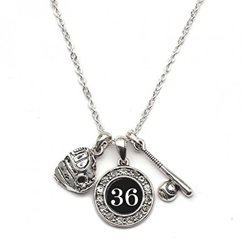 MadSportsStuff Custom Player ID Softball Necklace (#36, One -