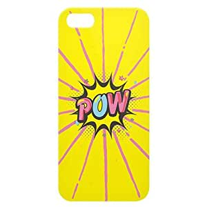 Loud Universe Apple iPhone 5/5s Comic Pow Print 3D Wrap Around Back Case - Yellow