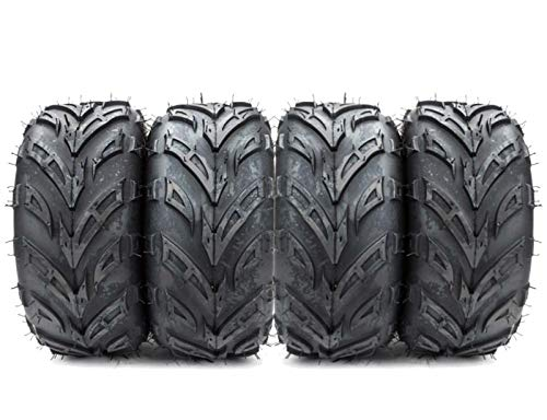 Set of 4 New ATV Go Kart Tires 145/70-6 4PR P361 B 4 Ply Rated Rubber Black