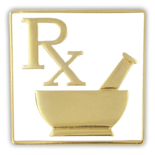 PinMart's Pharmacy RX Logo Lapel Pin by PinMart