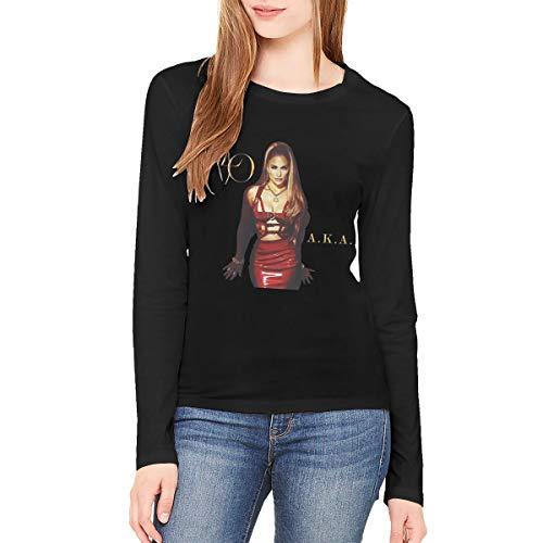 MLXAEYUTG Jennifer Lopez A.K.A Women's Comfort Long Sleeve Tshirt Black XL ()