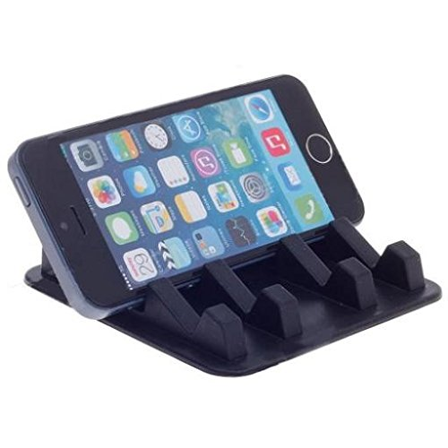 Compatible with Stylo 4 Plus - Car Non-Slip Dash-Board Holder Stand Mount Desktop Phone Dock Cradle Black Works with LG Stylo 4 Plus