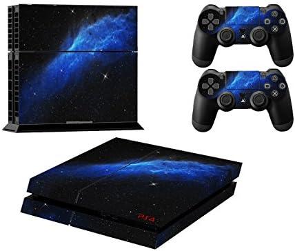 Skin adhesivo para consola Sony PS4 y 2 mandos, diseño de galaxia ...