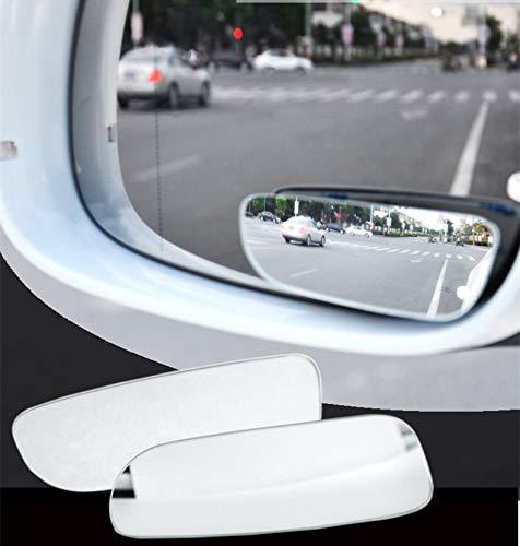 Car Blind Mirror Spot - choolo 2Pcs Car Rearview Conve Blind Spot Side Rear View Wide Angle Convex Lens Mirror