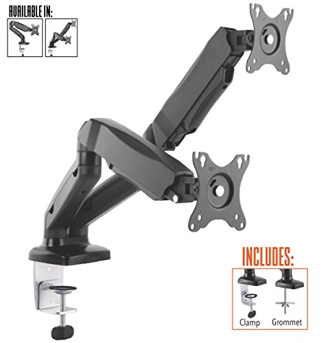 Lcd Monitor Lift (Stand Steady Monitor Arm | Height Adjustable with Full Articulation | VESA Mount Fits Most LCD / LED Monitors (2 Monitors Gas Assist))
