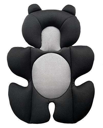 G Ganen Infant Baby Cozycushion Sleeping Cushion Head and Body Support Cushion Stroller and Seat Comfort Cushio (Black)