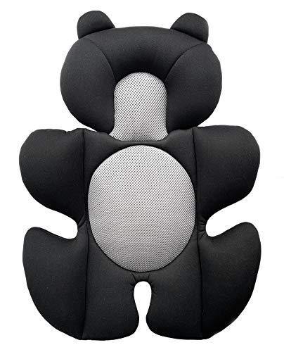 G Ganen Baby Cozycushion Sleeping Cushion Head and Body Support Cushion Stroller and Seat Comfort Cushio (Black)