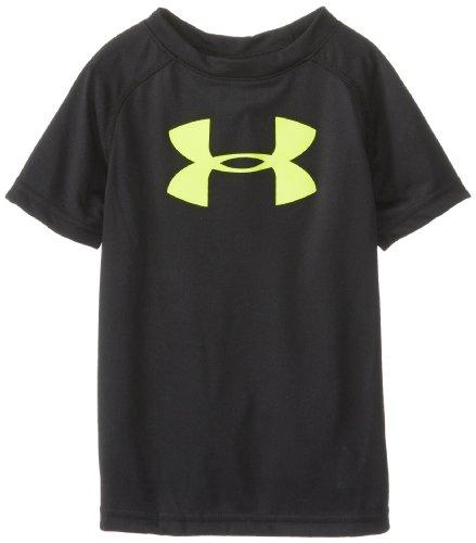 Under Armour Little Boys' Big Logo Short Sleeve Tee Shirt, Black, 6