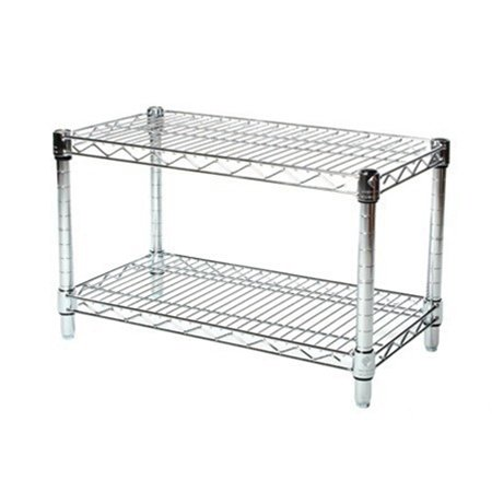 14''d x 30''w Chrome Wire Shelving with 2 Shelves by Shelving Inc