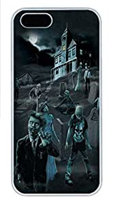 IPhone 5/5S Case Zombie Ghosts Glow in Dark PC Hard Plastic Case for iPhone 5/5S Whtie