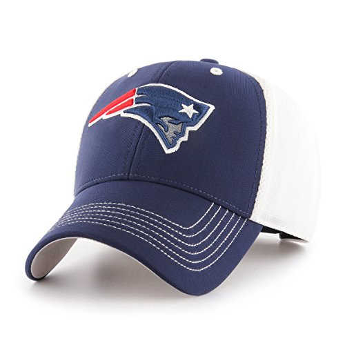 NFL New England Patriots Sling OTS All-Star MVP Adjustable Hat, Light Navy, One -