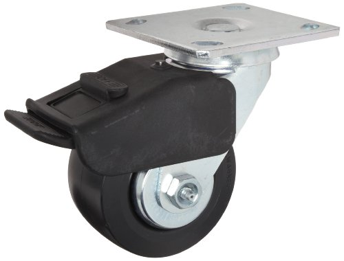 Delrin Bearing Hard Rubber Wheel 3-1//2 Mount Height 300 lbs Capacity E.R 13//16 Wheel Width Dual Wheel Wagner Plate Caster Swivel with Thumb Screw Brake 4-1//8 Plate Length 2-1//2 Wheel Dia 3-1//8 Plate Width