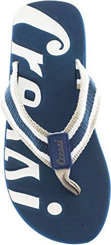 Cressi Portofino - Chanclas Flip Flops de alta calidad Playa Piscina Azul/Blanco