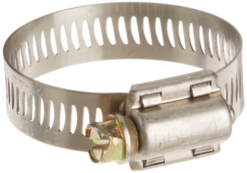 Breeze Power-Seal Stainless Steel Hose Clamp, Worm-Drive, SAE Size 20, 13/16