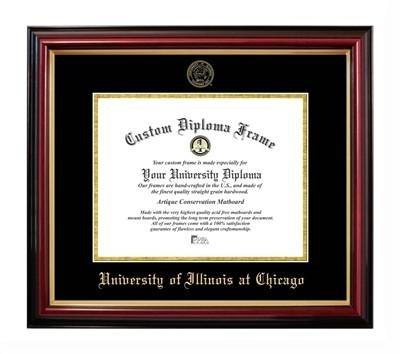 Illinois University Diploma Frame - University of Illinois at Chicago Affordable Diploma Frame