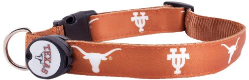 Dog-E-Glow University of Texas Longhorns Lighted LED Dog Collar, Medium, 10-Inch by 15-Inch