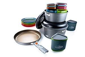 GSI Outdoors Pinnacle Camper, Nesting Cook Set, Superior Backcountry Cookware Since 1985