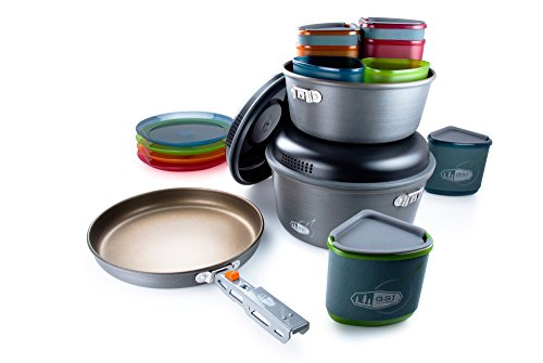 Gsi Outdoors Pinnacle Camper  Nesting Cook Set  Superior Backcountry Cookware Since 1985