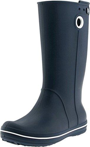 crocs Women's Crocband Jaunt Rain Boot,Navy,9 W US (Boots Blue Croc)