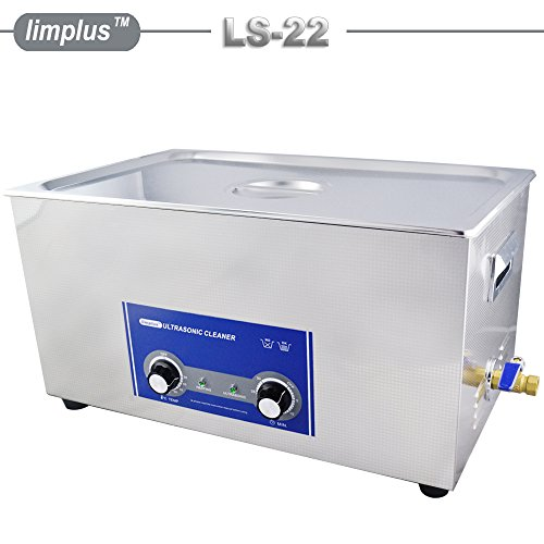 limplus LS-22 22liter 480W Commercial Ultrasonic Cleaner With Basket and Lid Injection Nozzles Denture Dental Surgical Instruments Fuel Injector Oil Remove 40kHZ Timer Heater - Ems Fuel Injection