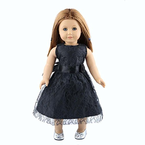 Sunward 1 Set Prince Dress Fit For 18 Inch American Girl Doll Gifts Handmade Casual Clothes/Outfits (Black)