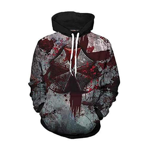 MUCLOTH Leon Kennedy Claire Redfield RPD Adult Zip up Hoodie Pullover Sweatshirt Halloween Cosplay Costume Top Unisex