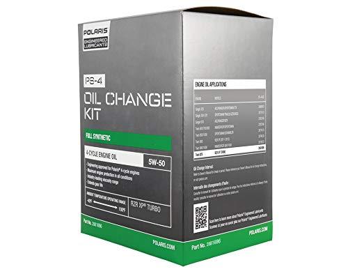 Polaris PS-4 5W-50 Oil Change Kit, Genuine OEM Part 2881696 (Best Oil Additive 2019)