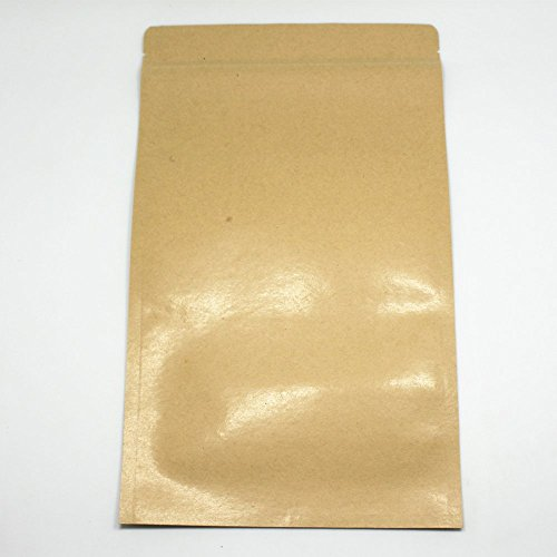 250-Pieces-1830cm-71x118-Zip-Lock-Kraft-Paper-Aluminum-Foil-Valve-Pouch-Coffee-Tea-Retro-Kraft-Heat-Seal-Food-Pack-Zipper-Bags