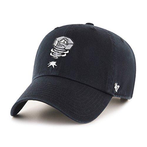 new styles b17f3 4b441 Minor League Baseball Lansing Lugnuts Adult Minor League Baseball  47 Clean  Up Adjustable Hat, One Size, Black