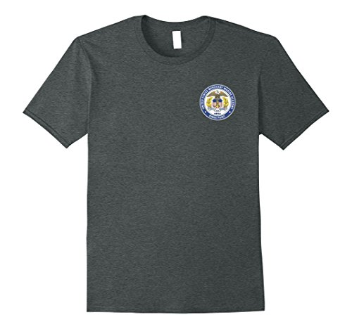 Mens MERCHANT MARINE ACADEMY SHIELD T-SHIRT 2XL Dark Heather